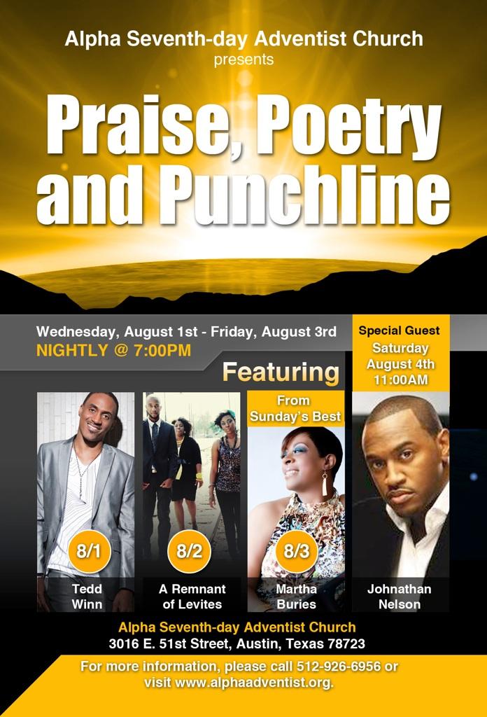 Praise, Poetry, Punchline