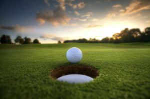 golf ball sunset