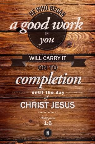 Philippians 1.6.